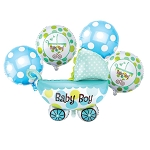 Baby Boy Balloon Bouquet BLUE